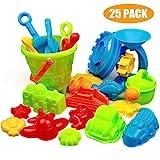 Swonuk 25 Stück Bunt Strand Sandspielzeug Set mit Netzbeutel, Strand Sandspielzeug Kinder...
