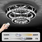 JDONG Hochwertige LED Kristall Deckenleuchte Deckenlampe 36W Diamant Style Kronleuchter Wohnzimmer...