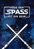 GRAFIK WERKSTATT Das Original Glückwunschkarte Geburtstag, Musikkarte mit Sound, Song 'Star Wars...