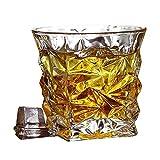 LCY Whiskey Karaffe Whiskygläser, Altertümlich Double Wall Kristallglas, Bourbon Cocktail Scotch...