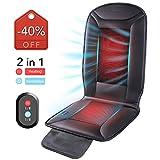 Naipo Auto Sitzkissen Sitzbezug mit Heizung und Belüftung Funktion und 3D Mesh PU-Leder tragbare...