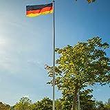 Aluminium-Fahnenmast 620 cm | Flaggenmast | ohne Fahne | Zylindrische Form | mit Bodenhülse | Ø 50...