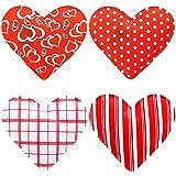 MIK funshopping 4er Set Taschenwärmer in Herzform, Herz, Fingerwärmer, gegen kalte Hände im...