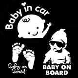 [3-in-1] Baby an Bord/Baby im Auto Abziehbilder