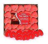 Adkwse Teelichte Unbeduftet Herzform Teelichter Romantische Kerzen Rauchfreie Herzkerzen für...