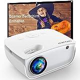 GROVIEW WiFi Beamer, 6500 Lumen Mini Video Beamer mit Bildschirm, 1080P Unterstützung, eingebaute...