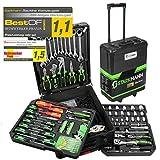 STARKMANN Blackline 399tlg. Premium Werkzeugkoffer Werkzeug Box Kasten im abschliebaren Alu Trolley