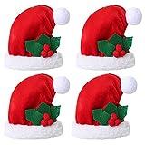 Decdeal Serviettentasche Weihnachten Weihnachtsmütze (1 Stück / 2 Stück 3 Stück 4 Stück/Set...