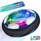 Baztoy Air Fussball Kinderspielzeug Hover Soccer Ball Disk mit LED-Licht & Schaum Stoßstangen...