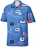 Columbia PFG Herren Trollers Best Kurzarm Shirt Atmungsaktiv Button Up Medium Vivid Blue...
