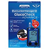 TESTAmed GlucoCheck Advance Blutzuckermessgerät mg/dl mmol/l