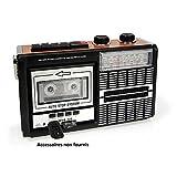 Ricatech PR85-80er Jahre Kassettenrekorder und -rekorder, AM/FM/SW-Radio, USB, SD-Kartensteckplatz,...
