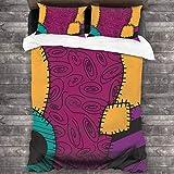 K Nightmare Before Christmas Bettwäsche-Set, weich, schick, Doppelbettgröße, 3-teilig