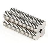 OMO 100 Stück Magnetmagnet Neodym NdFeB N50 Zylinder 8 x 1,5 mm Durchmesser 8 mm Höhe 1,5 mm...