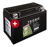 TECNO-GEL Motorrad-Batterie YTX9-BS, 12V Gel-Batterie 9Ah, 151x87x105 mm inkl. Pfand