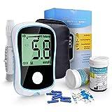 FJLOVE Blutzuckermessgerät Kit Diabetes-Testkit mit 50 Lanzetten, 50 Stechhilfen und...