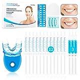 Teeth Whitening Kit, UUQ Professional Zahnaufhellungs Set mit LED-Licht, Wiederverwendbares Home...