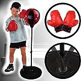 Stimo Punchingball Box Set inklusive Boxhandschuhe fr Kinder/Jugend (hhenverstellbar 80-110 cm)