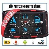 Elebest Navigationsgerät Rider A6 Pro, Navigation für Motorrad und PKW, 5 Zoll Bildschirm Android...