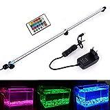 MLJ RGB Aquarium Beleuchtung, LED Aquarium Leuchte 92 cm Wasserdicht Aquarium Lampe Stecker EU...