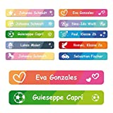 foliado® Namensaufkleber Kinder Etikett 45x7mm Sticker Namensetikett Schule Kita Kleidung...