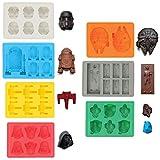 Sunerly Eiswrfelformen / Silikonfrmchen in Form von Star-Wars-Charakteren, ideal fr Schokolade,...