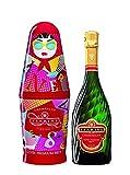 Tsarine Champagner BRUT Cuvée Premium mit'Gift Pack' Matriochka (1 x 0,75 l)