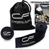 CORPOREAL Fitness - Flossing Band Set + Lacrosse Ball + PDF Übungsanleitung | Flossband und...