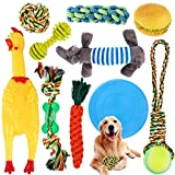 SaiXuan Hundespielzeug,10 PCS Hundeseile Spielzeug,Spielseil für Haustiere,Interaktives...