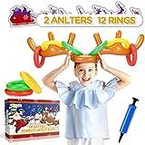 WEARXI Rentier Spiel, Ringwurfspiel, Wurfspiel - Partyspiele für Erwachsene Kinder Lustig,...