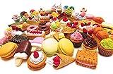Radiergummi, 30 Stück, verschiedene Lebensmitteln, Kuchen, Dessert, Puzzle-Spielzeug für Kinder...