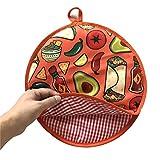 Tortilla Warmer, 12 Zoll isolierter Stoffbeutel - mikrowellengeeignet Verwenden Sie einen...