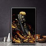 LWJZQT Leinwand Malerei Golden Black Woman Wandkunst Bilder Dekoration Für Wohnzimmer Drucke Auf...