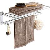 Regal Handtuchhalter Free Punch Bad Handtuchhalter Faltaktivitt Double Space Aluminium WC-Anhnger