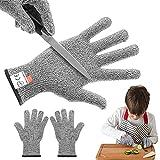 Schnittfeste Handschuhe Kinder, XS (17*8cm) Schnittfeste Arbeitshandschuhe, Schnittschutzhandschuh...
