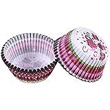 Einweg-Backen-Schalen Mini Rainbow Color 100pc Cupcake Liner Baking Cup-Kuchen-Papier-Muffin-Kästen...