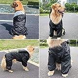 Idepet Regenmantel für Hunde, wasserdicht, Winddicht, mit Kapuze, für kleine und mittelgroße...