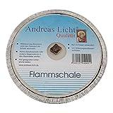 OLShop AG 10er Pack Partylichter/Flammschale Assiette Andreas Licht je ca. 160 x 25 mm Partykerze...