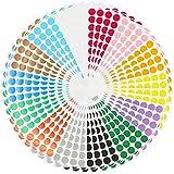 2240 Stück Farbcodierungs-Etiketten, 2 cm, rund, selbstklebend, ablösbar, bunte Kreispunkte, 14...