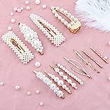 Perle Haarspange-12 PCS Perle Haarspange Haarnadeln Haarspange Hochzeit Brautjungfer Haarspangen...