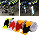 4 Farben 5cmx5m Reflektorband Sicherheitsband Warnklebeband Reflexionsfolie Reflexstreifen...