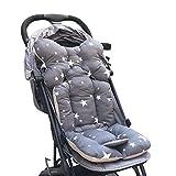 Souarts Universal Kinderwagen Sitzauflage Sitzkissen Baumwolle atmungsaktiv Sitzeinlage für Baby...