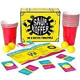 Gutter Games Saufkoffer - Die 8 besten Trinkspiele (Bier Pong, Noch nie Habe ich, Ring of Fire und...