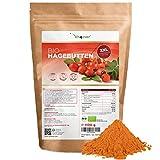 Bio Hagebuttenpulver - 1100 g (1,1 kg) - Ganze Hagebutten gemahlen - kontrollierter Anbau -...