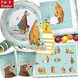 DH-Konzept/Carpeta: 104-tlg Party-Set * DR. BRUMM * für Kindergeburtstag mit Teller + Becher +...