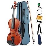Eastar EVA-1 Akustische Violine Set 4/4 Geige Volle Gre fr Anfnger mit Hard Case, Schultersttze,...