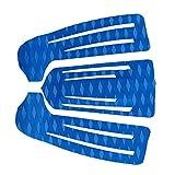 SaniMomo 3 Stücke Blau rutschfeste Diamant Eva Surfbrett Skimboard Shortboard Surf,