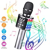 Karaoke Mikrofon bluetooth, GLIME Tragbare Drahtlose Mikrofon Stereo Player Multifunktionell...