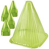 ONVAYA® Pflanzenhut-Set | Grün |Dots | Pflanzenschutz vor Witterung & Tieren | Pflanzglocke aus...
