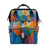 MUOOUM Hundetasche, bunt, Graffiti-Art-Windeltasche, Wickeltasche, Stillrucksack für Babypflege,...